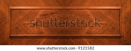 part of wood door - stock photo