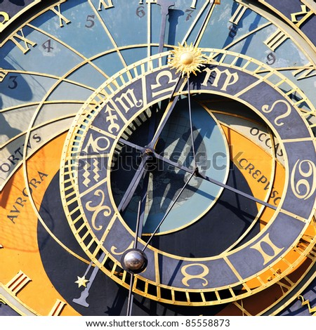 part of zodiacal clock in Prague city