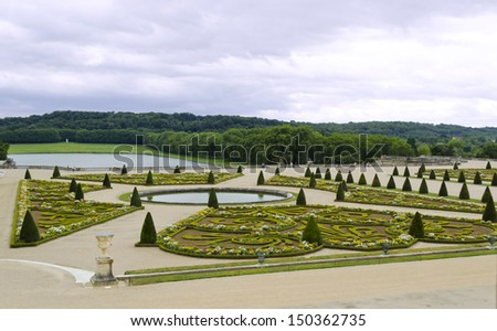 Parterre Sud - Versailles, France - stock photo