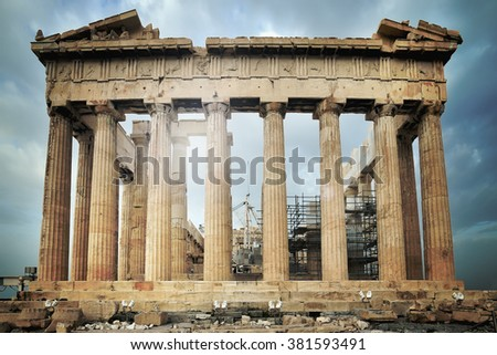 Parthenon, Acropolis in Athens, Greece