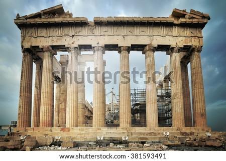 Parthenon, Acropolis in Athens, Greece - stock photo