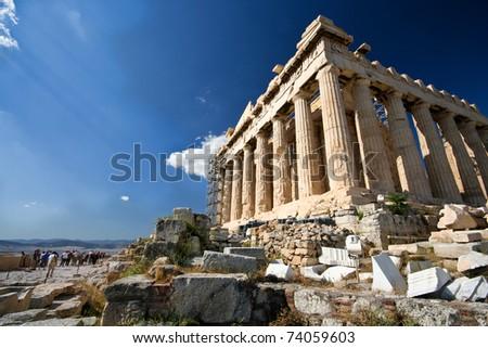 Parthenon, Acropolis of Athens - stock photo