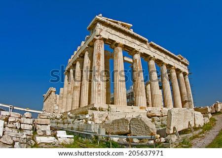 Parthenon at Acropolis, Athens - stock photo