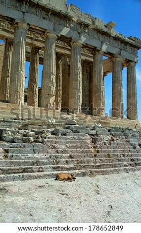 Parthenon building, Athenian Acropolis, Athens, Greece. - stock photo