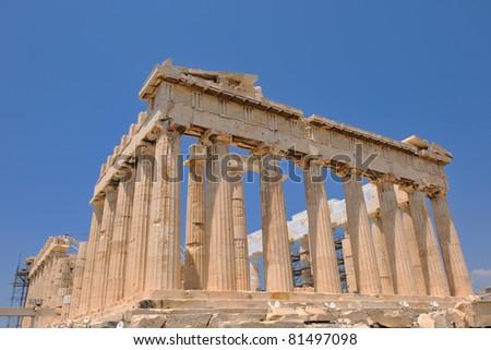 parthenon famous european tourist  travel destination in greece athens - stock photo