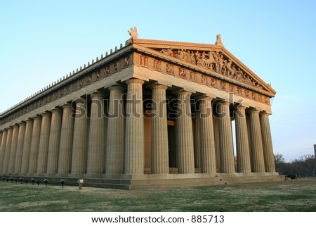 Parthenon in Centennial Park, Nashville, TN. - stock photo