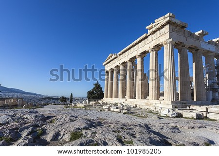 Parthenon in Greece - stock photo