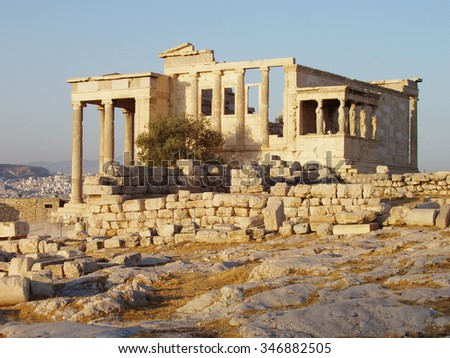 Parthenon on the Acropolis in Athens, Greece.