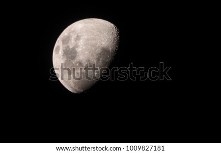 Partial view of the moon