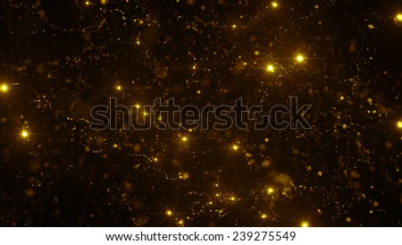 particle background with point optical flares