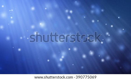 Particle blue background and light ray. - stock photo