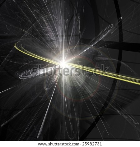 Particle Collision in the Large Hadron Collider in Switzerland - stock photo