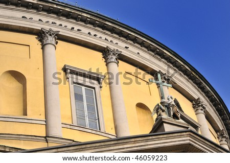Particular of a church in Milan - stock photo