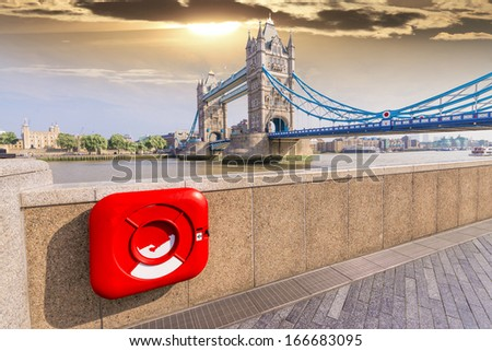 Particular view of London Bridge. - stock photo