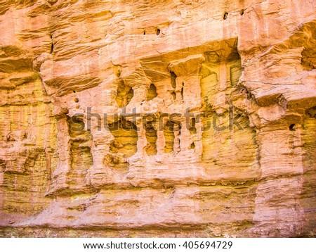 particularly limestone in Canyonland national park arizona - stock photo