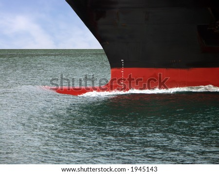 Parting the water - stock photo