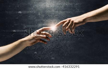 Partnership and interaction - stock photo