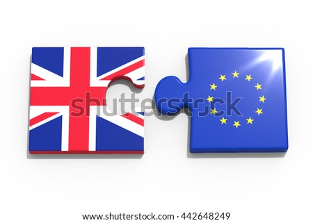 Partnership between Europe and Great Britain / 3D Rendering