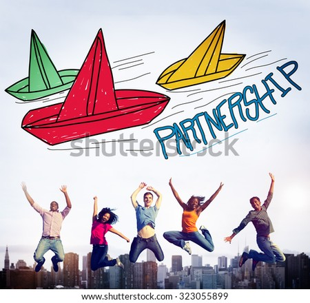 Partnership Collaboration Deal Contract Help Concept - stock photo