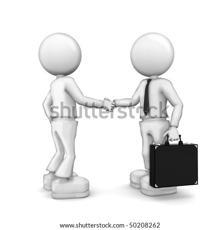 Partnership.  3d image isolated on white background. - stock photo