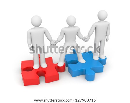 Partnership. Helping hand - stock photo
