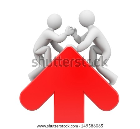 Partnership. Helping hand - stock photo