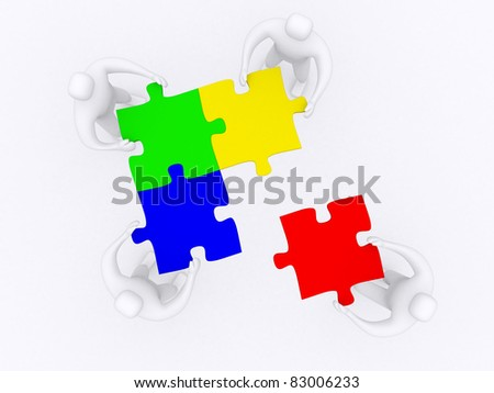 Partnership. This is 3d illustration - stock photo