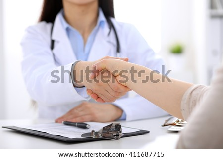 Partnership, trust and medical ethics concept - stock photo