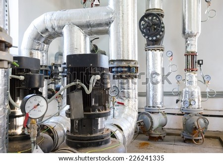 Parts replaced during repair work - stock photo