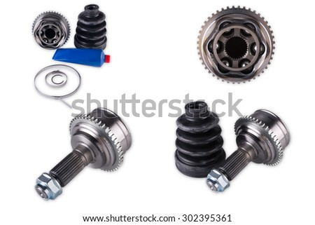 Parts wheel of the car on a white background CV Joints - stock photo