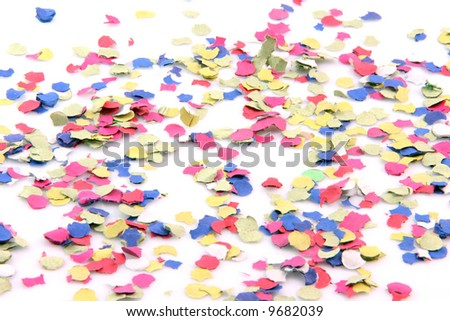 party abstract confetti isolated on white background - stock photo