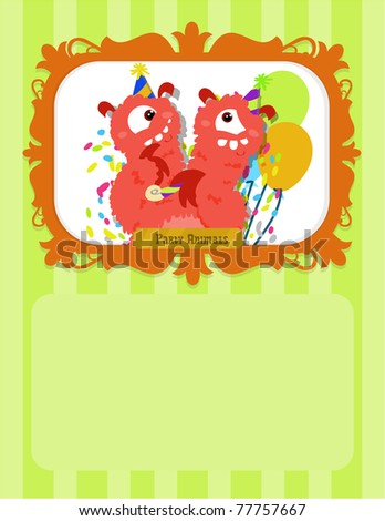 Party Animal Greeting card - stock photo