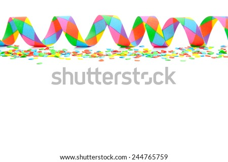 Party background. All on white background. - stock photo