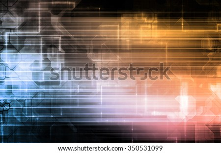 Party Background with a Creative Magical Abstract - stock photo