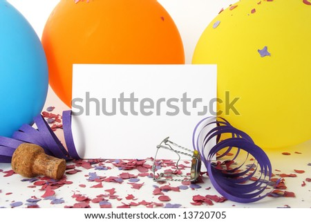 Party background with a white card for message - stock photo