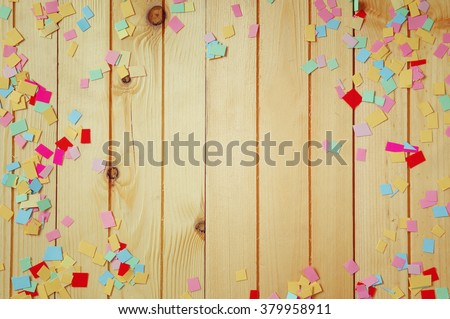party background with colorful confetti - stock photo