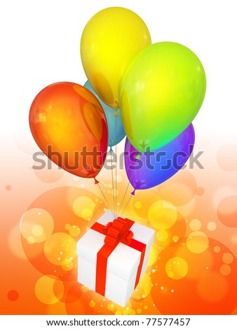 Party balloons colorful and beautiful. Modern holiday celebration decoration. Birthday joyful emotions abstract. This is a detailed three-dimensional render 3D (Hi-Res) - stock photo