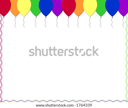 Party balloons in rainbow color - stock photo