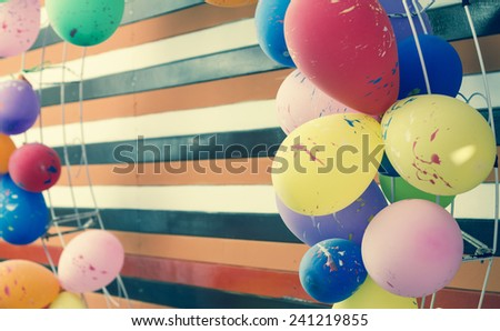 party balloons toned image  - stock photo