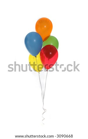 Party Baloons on White