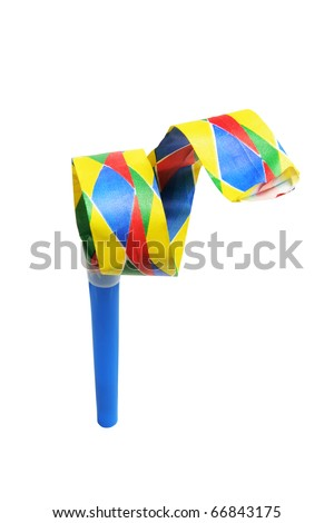 Party Blower on White Background - stock photo