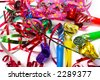 Party blowers and paper streamers - stock