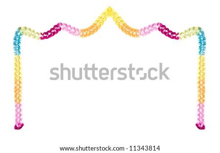 party border isolated on white background stock photo edit now