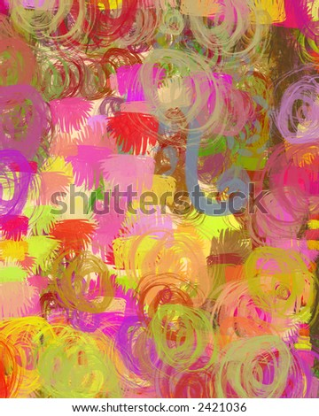 Party - bright, abstract digital painting can serve many purposes. - stock photo