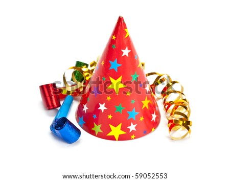 Party cap - stock photo