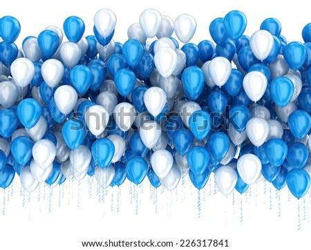 Party celebration balloons isolated on white  - stock photo