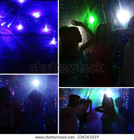 Party collage - stock photo
