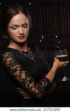 party concept - beautiful woman. - stock photo