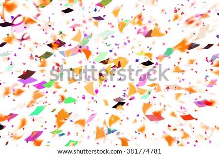 Party Confetti Background - stock photo