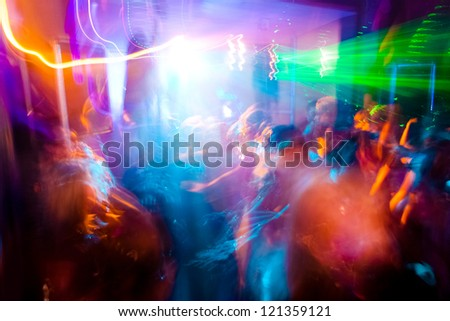 Party. Dancing people. A party in a night club. - stock photo